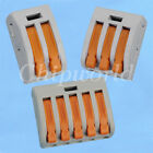 10x Wago Spring Lever Push Fit Reuseable Cable Cage Clamp 2 3 5 wire pole 3 Type