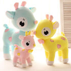 Q plush toy colorful heart deer sika stuffed doll Valentine's birthday gift 1pc