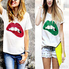 Fashion Women's Summer Short Sleeve Loose Casual T-Shirt Top Blouse Hot New