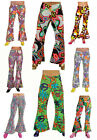 Ladies 70's Patterned Flared Trousers - 4 sizes , 8 patterns