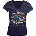 American Tradition Ford Motor Company 1903 Classic Girls Junior V-Neck T-Shirt