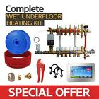 Water Underfloor Heating -Single Room Kit covers 22m2 with PE-X Pipe High Output