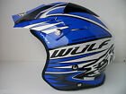 NEW WULFSPORT BLUE FIBREGLASS TRIALS HELMET (ALL SIZES) MONTESA BETA GASGAS TXT
