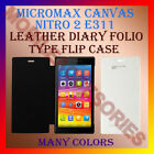LEATHER DIARY FOLIO FLIP FLAP CASE for MICROMAX CANVAS NITRO 2 E311 MOBILE COVER
