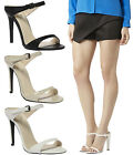 New Ladies Womens Cut Out Backless High Heel Peep Toe Strappy Sandals Shoes Size