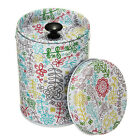 Stylish Double Cover Tea Canister Container Food Caddy Jewelry Storage Tin Box