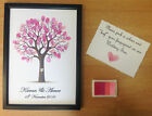 PERSONALISED WEDDING FINGER THUMB PRINT GUEST BOOK TREE DECORATION GIFT INK PAD