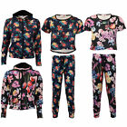 Girls Cropped Tops Leggings Minx Kids Floral Leaf Print Sweatshirt Hoodie Summer