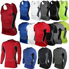 Men Compression Under Base Layer Tank Top Running Gym Athletic Casual T Shirts
