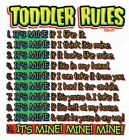 TODDLER RULES 100 % COTTON  GRAY TEE SHIRT  New Without Tags SIZE 24 Months