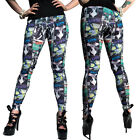 Women's Kreepsville 666 Elvira Comic Cover Leggings Pants Gothic Horror Fashion