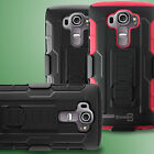 For LG G4 (2015) Heavy Duty Belt Clip Holster Protective Armor Phone Cover Case