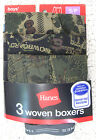 NEW Hanes Woven Boys Boxers 3-Pack Mixed Prints Size Small