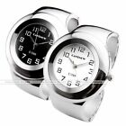 Womens Silvery Bracelet Bangle Wristband Sports Analog Quartz Wrist Watch Gift
