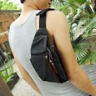 Men's Small Vintage Canvas Messeger Waist Fanny Wallet Casual Leisure Bag Gift