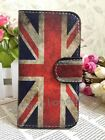 HOT Retro Union Jack UK Flag Flip Pouch Leather Case for Apple Samsung phone