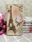 Retro Nice Flower Eiffel Tower Flip Pouch Case Cover for HUAWEI SONY card holder