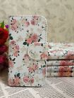 Love Rose Fresh Floral Flower Flip Pouch Case Cover for HUAWEI SONY card holder