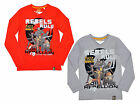 Boys Official Star Wars Rebels Rule Long Sleeve Cotton T-Shirt Top 7 to 14 Years
