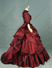 Victorian Bustle Period Dress Ball Gown Theatre Costume Reenactment Clothing 330