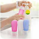 Travel Silicone Bottles Shampoo Shower Lotion Sub-bottling Squeeze Tube 3 Sizes