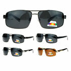 SA106 Mens Polarized European Luxury Fashion Narrow Rectangular Sunglasses