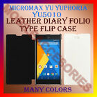 LEATHER DIARY FOLIO FLIP FLAP CASE for MICROMAX YU YUPHORIA YU5010 MOBILE COVER