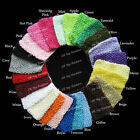 "10/50/100 PCS TODDLER GIRLS BABY 6.5"" WIDE CROCHET HEADBAND 1279H CLEARANCE"