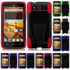 For ZTE SPEED Overture 2 Fanfare Z810 Tuff Hybrid Armor T-STAND Cover Case