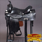 DF202 HILASON WIDE GULLET DRAFT WESTERN TRAIL ENDURANCE HORSE SADDLE 16 17 18