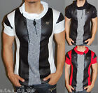 A.F.E.X D.G RR&J STAR CASUAL MOCK NECK MUSCLE SLIM FIT BODY FITTED SHIRT V AA3