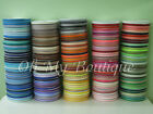 "50 / 100 / 500 YARDS ROLL 3/8"" PREMIUM QUALITY GROSGRAIN RIBBON 196 COLORS"