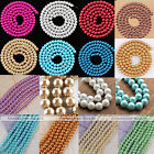 Strand Loose Round Glass Pearl Spacer Ball Bead Fit Necklace Bracelet Making DIY