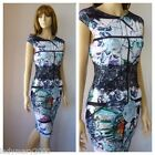 BNWT Lipsy Clover Canyon Print Bodycon Party Evening Dress Style JD03330