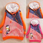 Casual USA Flag Minnie Mouse Drawstring Womens Hoodies Outwear Sweats Coats New