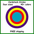 100 Color Cardstock Circles Round Disc Sphere Shape Die Cut Card Stock Punches