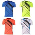 Jeansian Mens Sport Quick Dry Stretch T-Shirts Top Athletic Tees 4 Colors LSL133