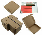 10cm x 10cm x 2cm BROWN CARDBOARD BOX SQUARE SHIPPING MAILING PIP LARGE LETTER