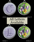 Letters Initials Vtg Purple Pansy Pansies Necklace Silver Pewter Charms Pendants