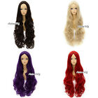 80cm Long 14 Colors Curly Stylish Women Lady Anime Cosplay Hair Wig+Free Wig Cap