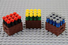 LEGO - Crates w/ 12-Pack Assorted Drinks Bottles Food Kitchen Minifigure Lot