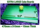 "CAKE BOARD Green EXTRA LARGE rectangle 310mm 18.5"" X 12"" football golf minecraft"