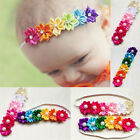 Baby Kids Girl Toddler Colorful Six Flowers Hair Band Headband Elastic Headdress