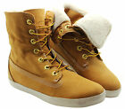 Timberland Earthkeepers Glastenbury Womens Roll Top Boots Fleece Fold Down 8643A
