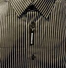 Express Men Modern Fit Striped Black Shirt XL NWT $70