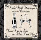 Personalised Plaque Champagne Vintage Wedding Anniversary Birthday Love Gift
