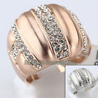 A1-R3002 Fashion Rhinestone Ring 18KGP Crystal Size 5.5-9