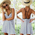 CHIC Summer Sexy Women Sleeveless Party Dress Evening Cocktail Casual Mini Dress