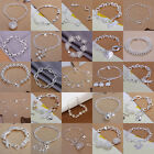 New 925 Sterling Silver Plated Charms Women Pretty Beautiful Bracelet Chain Gift