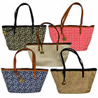 Tommy Hilfiger Womens Small Purse Jacquard Shopper Bag Classic Handbag New Th